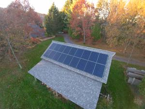 Solar panel installation in Cato, NY
