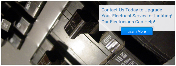 Contact us today to upgrade your electrical service or lighting! Our electricians can help!