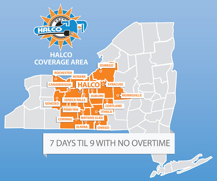 Halco Coverage Area