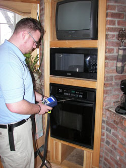 Carbon Monoxide Testing Being Conducted as Part of a Home Energy Audit